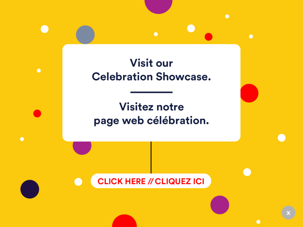 Celebration Showcase page invite